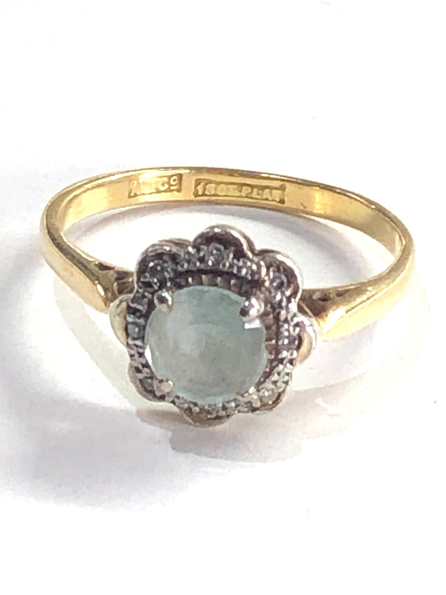 Antique 18ct gold topaz & diamond halo set ring 3.2g