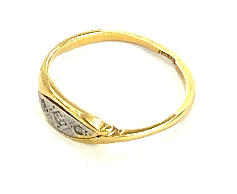 Antique 18ct diamond ring 1.6g - Image 2 of 2