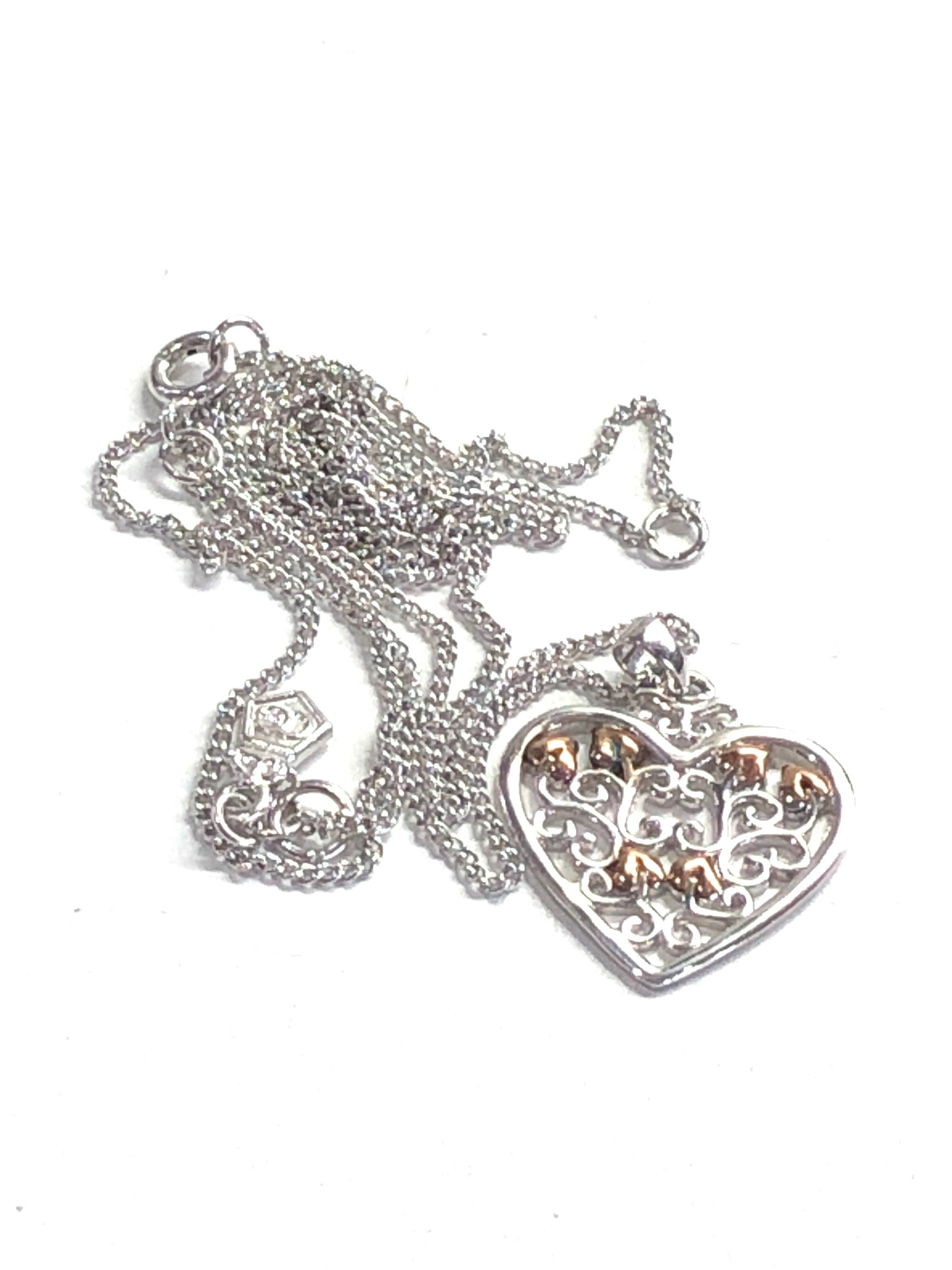 Clogau silver heart pendant and chain - Image 3 of 4