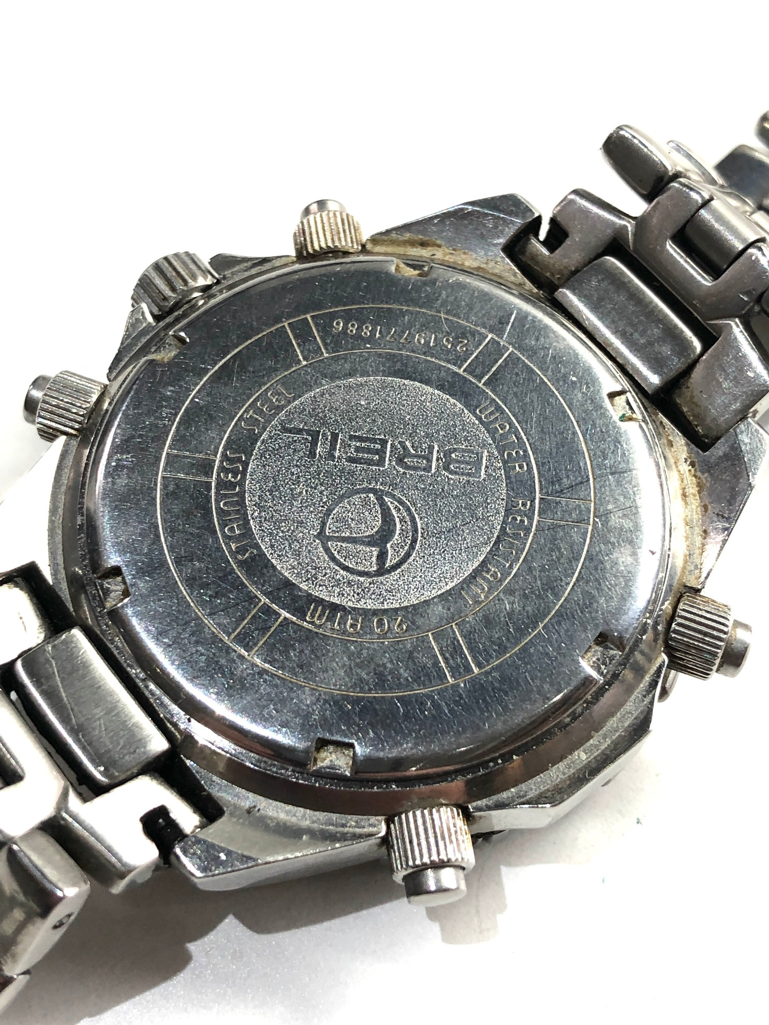 Gents Breil world timer chronograph wristwatch spares or repair - Image 3 of 5