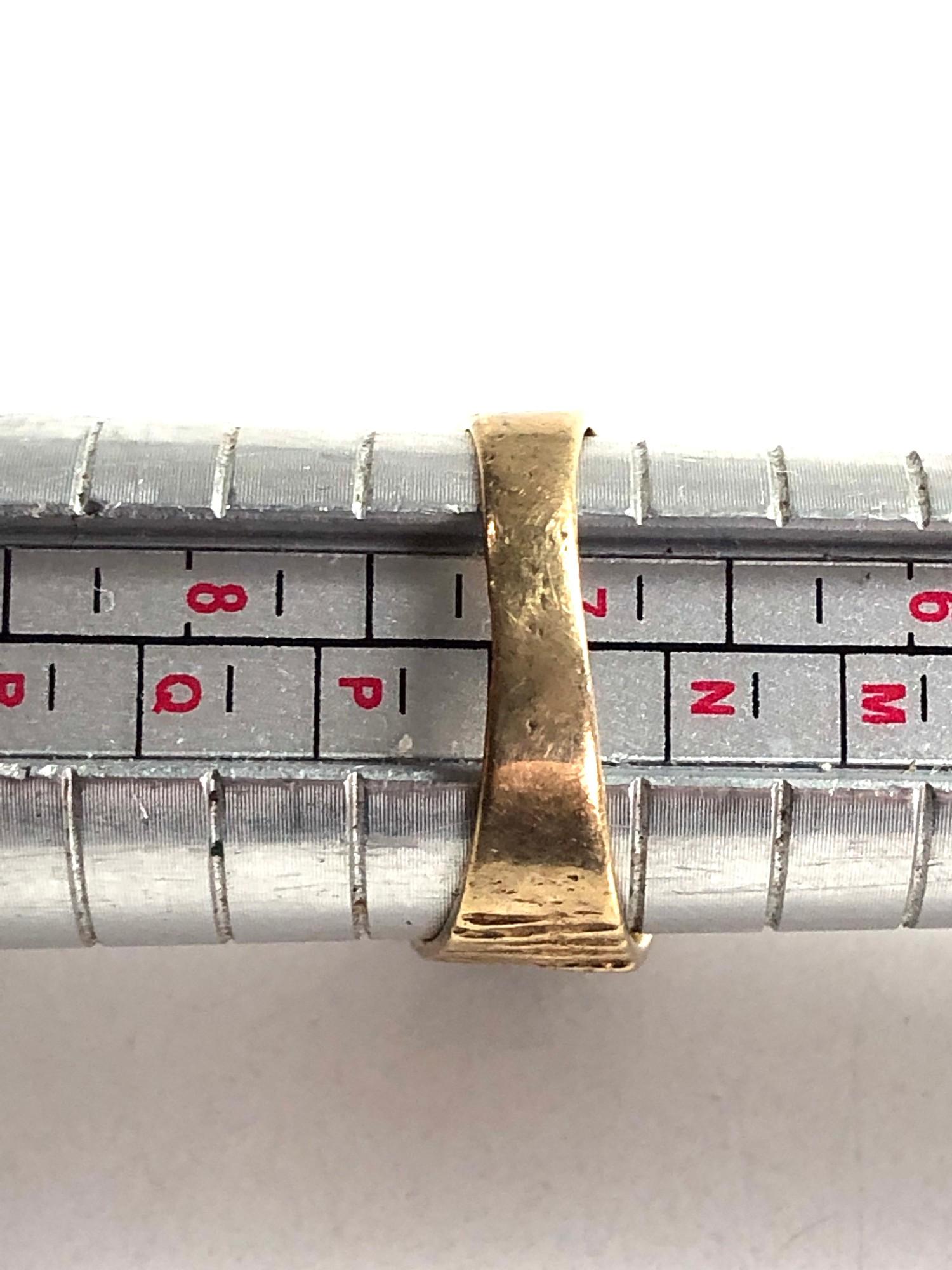 1970s bark textured garnet cluster ring 3.4g - Image 3 of 3