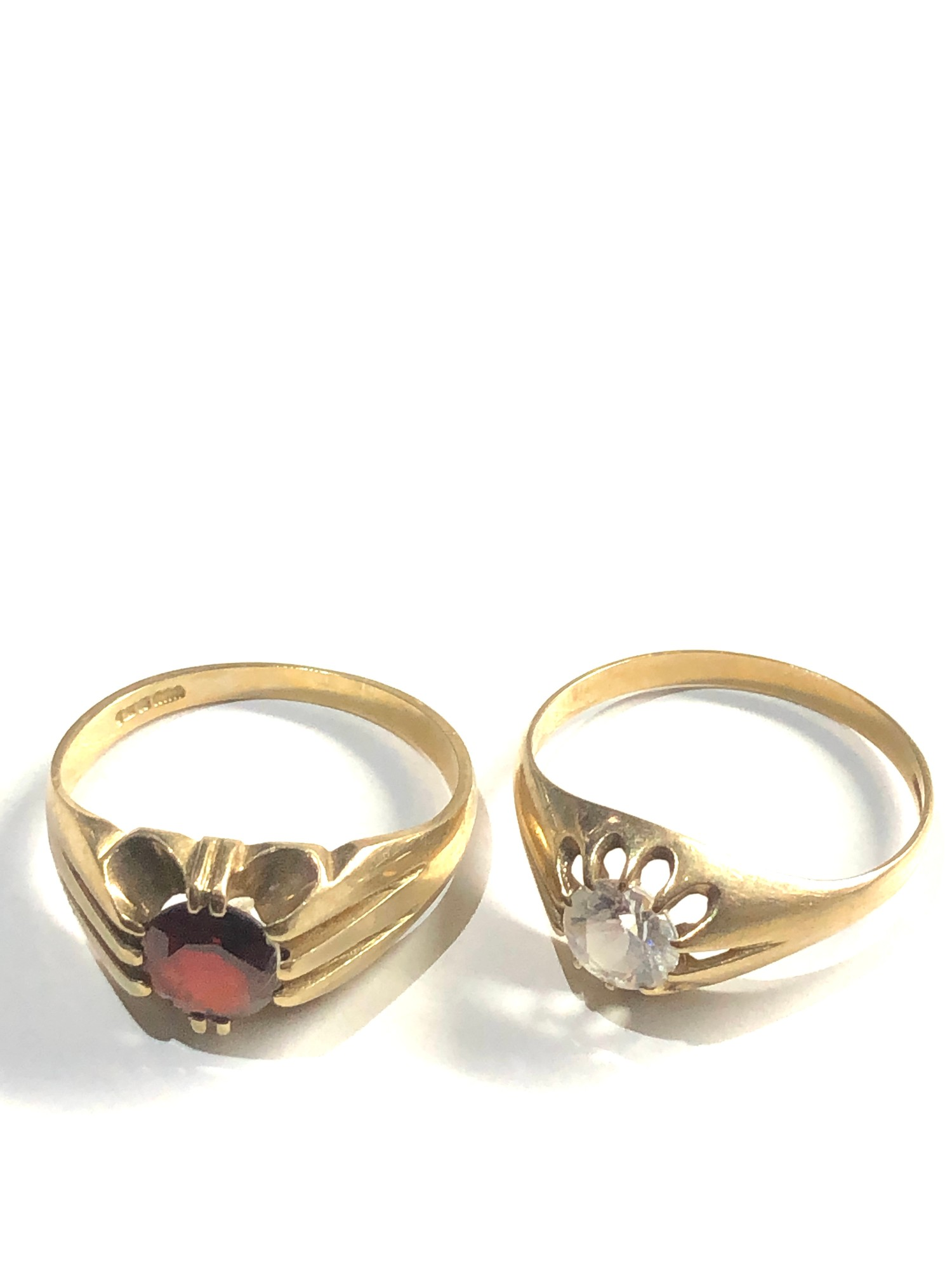 2 x 9ct gold gypsy rings 5.6g - Image 2 of 3