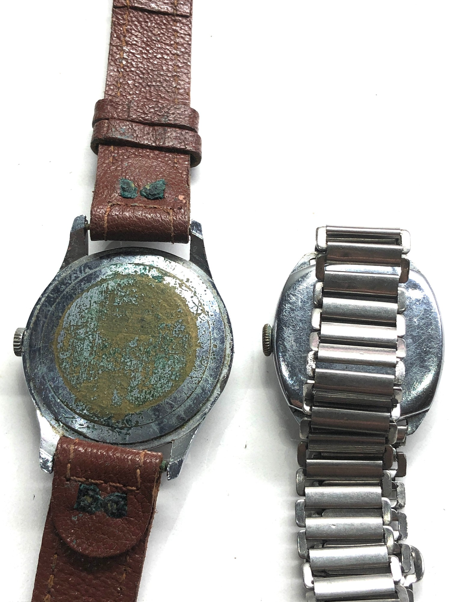 Selection of 4 vintage gents wristwatches includes rotary oris services and randal untested spares - Image 3 of 5