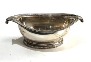 Fine Georgian silver salt cellar measures approx 13cm by 6.5cm height 4cm full london silver