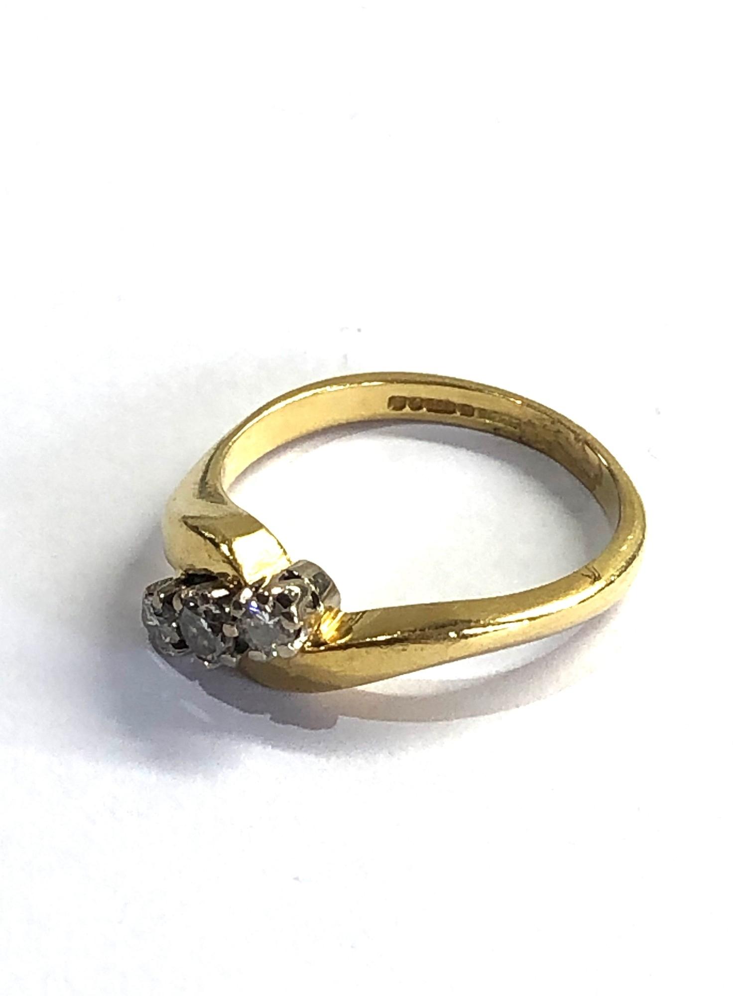 18ct gold diamond ring 0.25ct diamonds weight 4.3g - Image 2 of 4