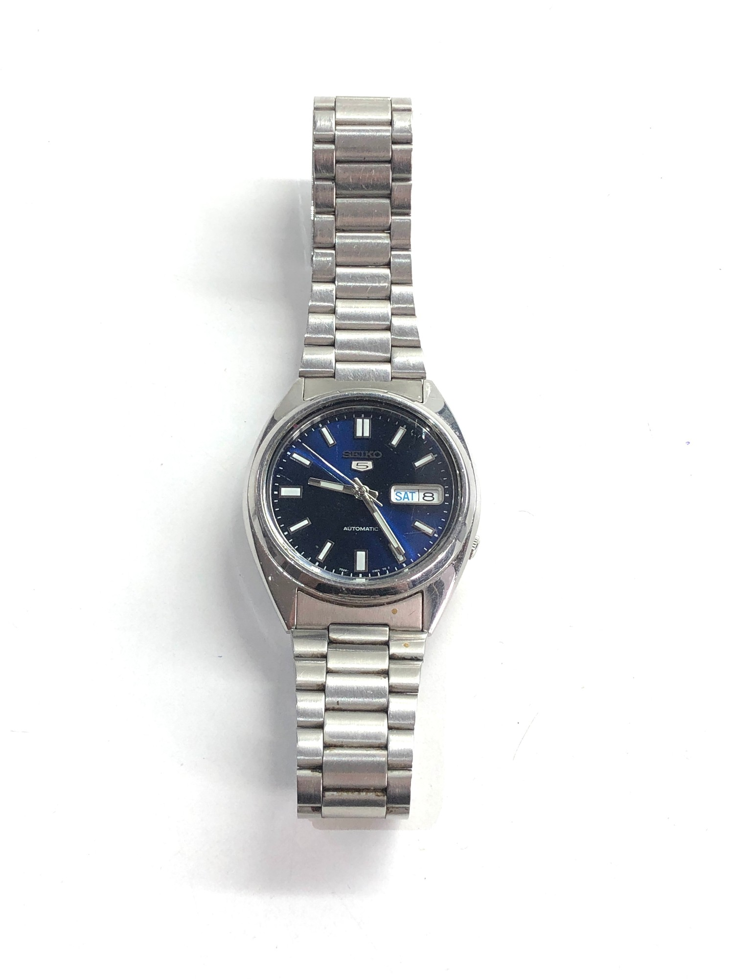 Gents seiko 5 automatic gents wristwatch in working order but no warranty is given 7526-0480