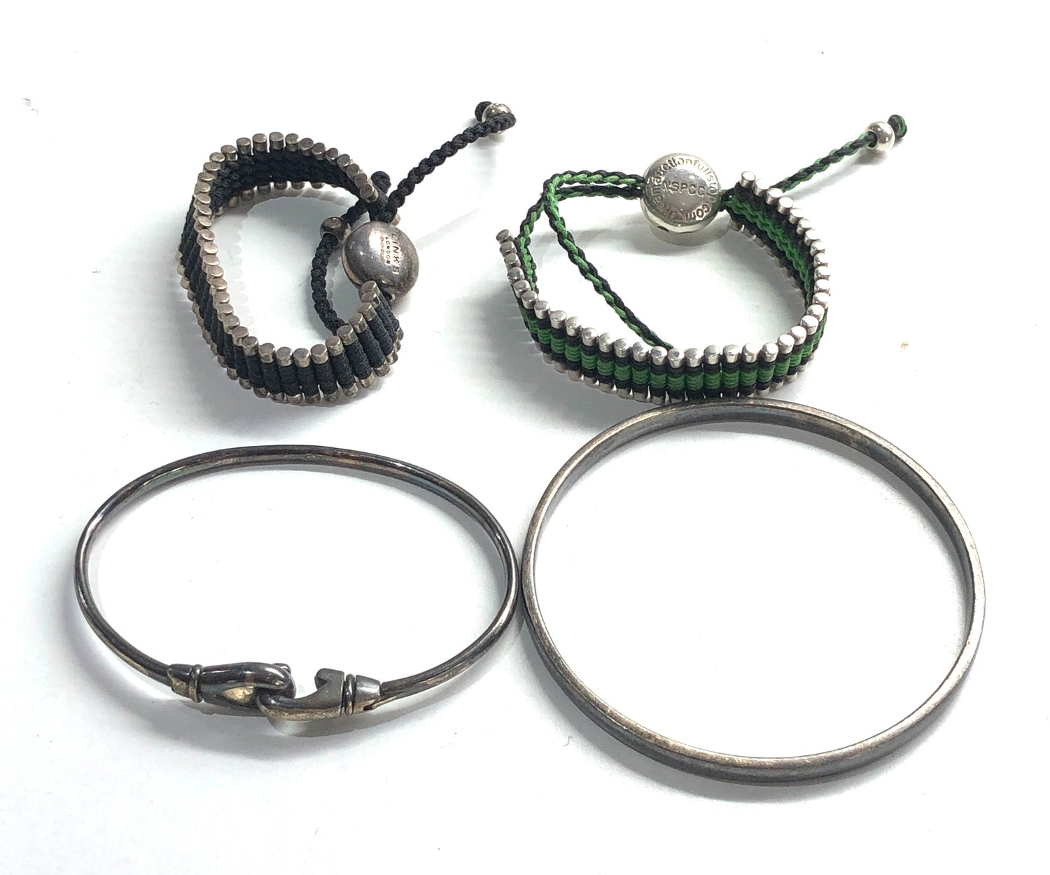 Selection of links of london silver jewellery