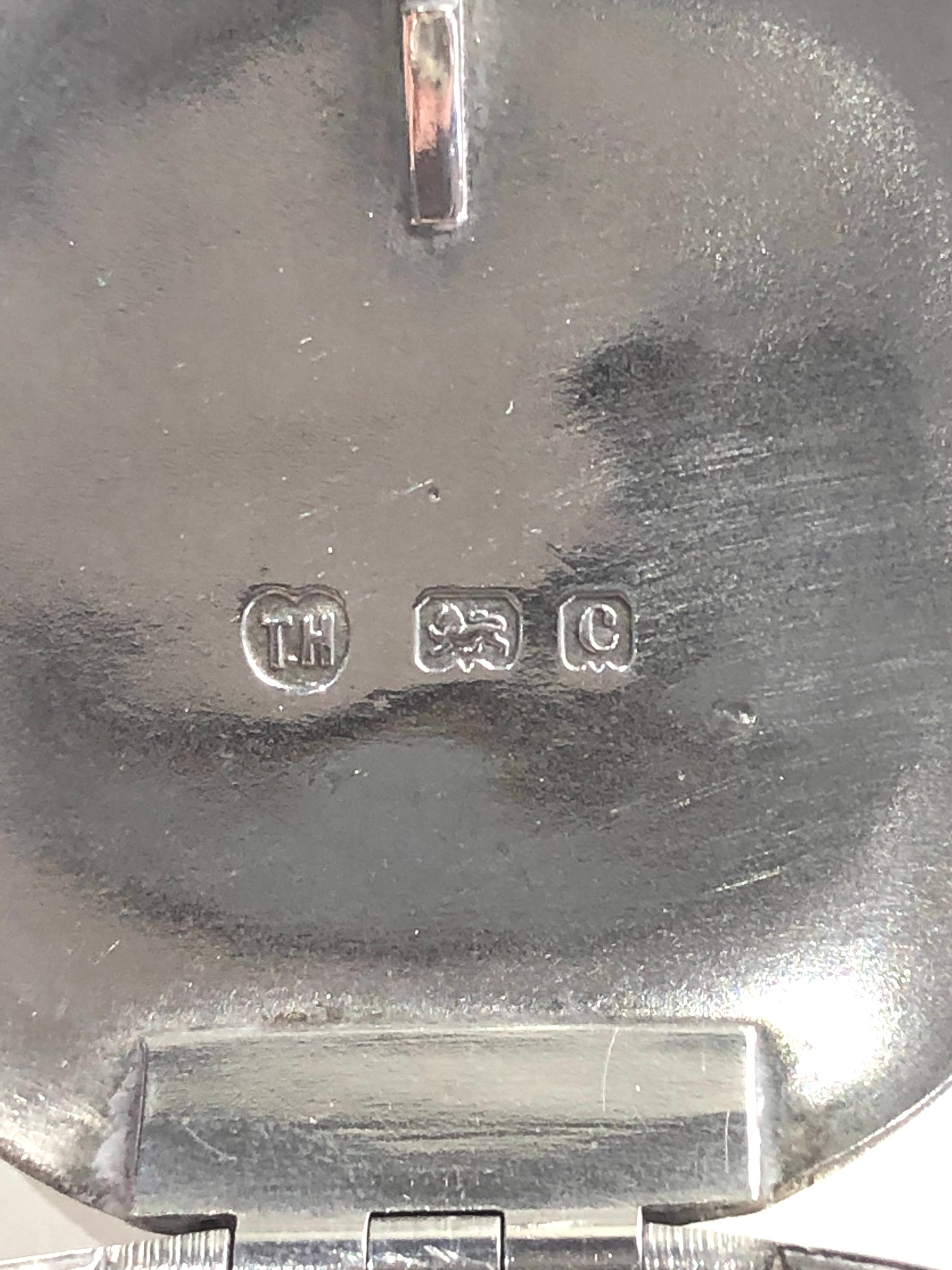Antique silver tobacco box Birmingham silver hallmarks age related dents please see images for - Image 2 of 7