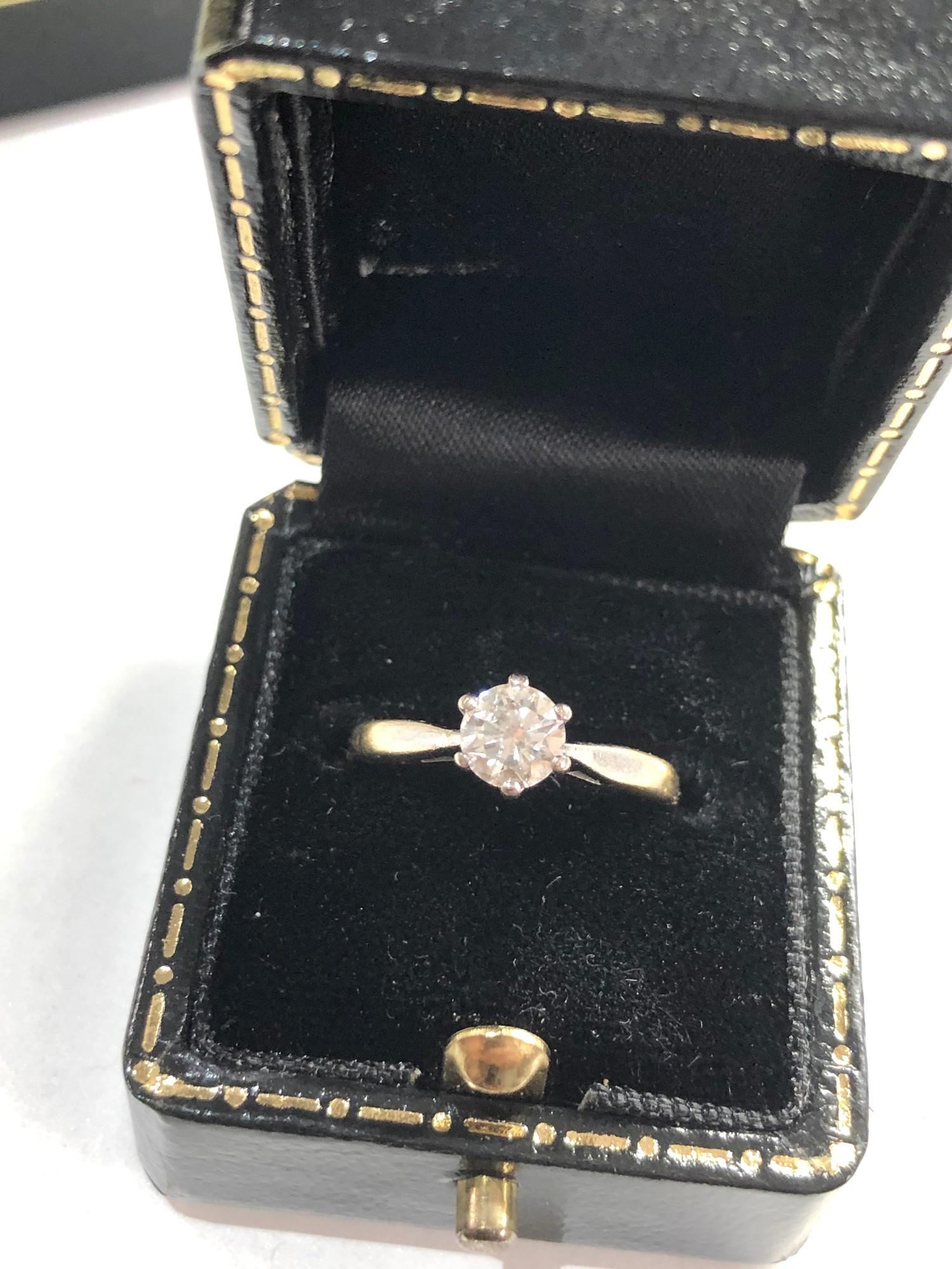 Fine 18ct gold diamond ring 0.50ct