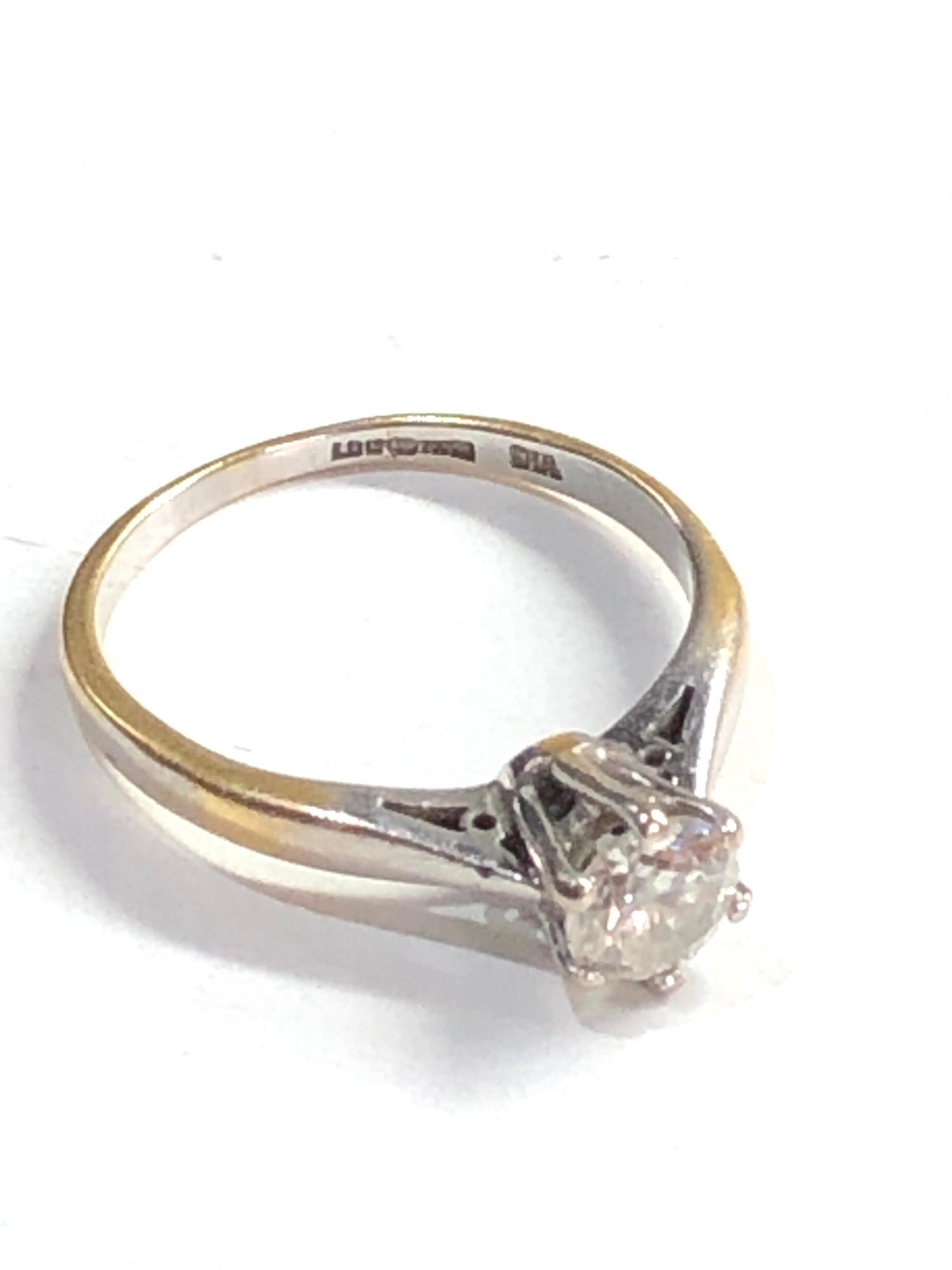 Fine 18ct gold diamond ring 0.50ct - Image 4 of 6