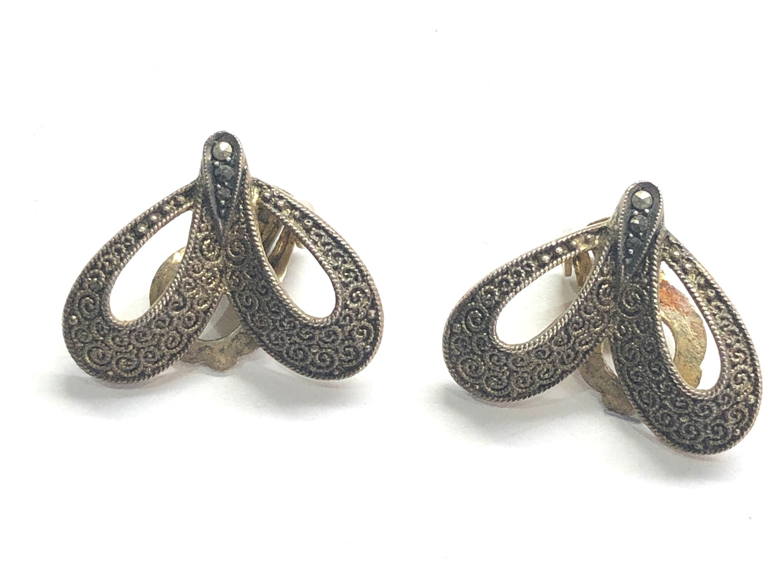 Theodor Fahrner Art Nouveau Silver earrings