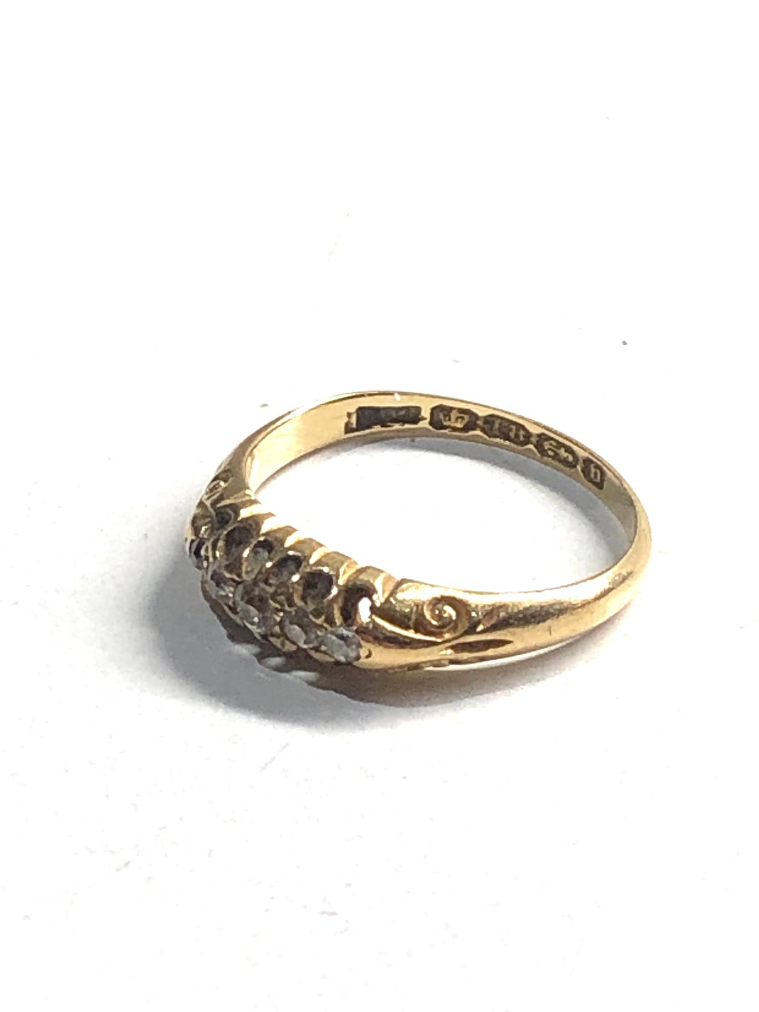 18ct vintage diamond five stone ring 2.4g - Image 2 of 3