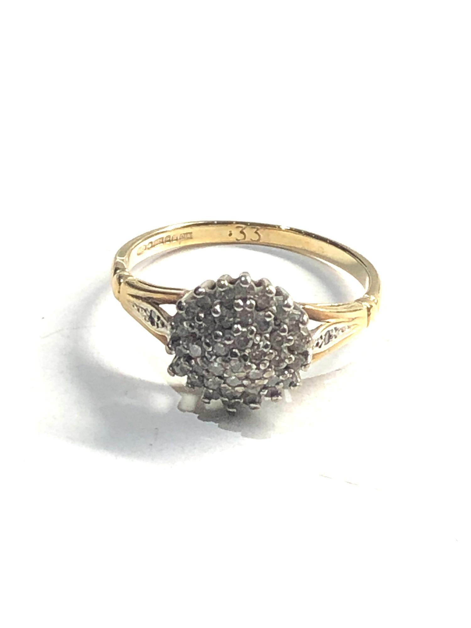 9ct gold diamond cluster ring 0.33ct diamonds