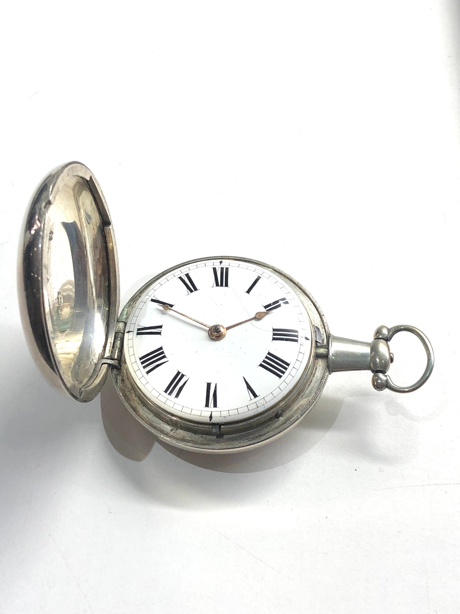 Fine antique silver full hunter case verge fusee pocket watch by Rob Turnball Greenock watch is in