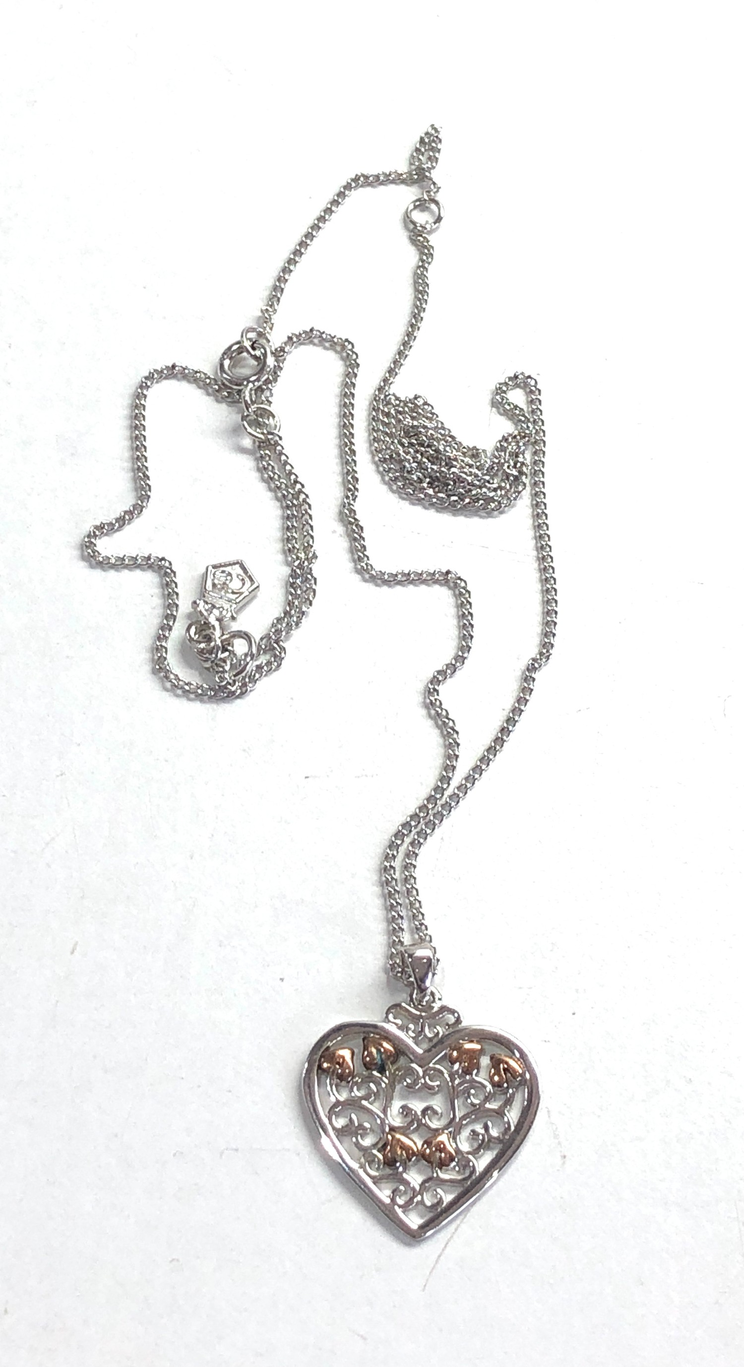 Clogau silver heart pendant and chain