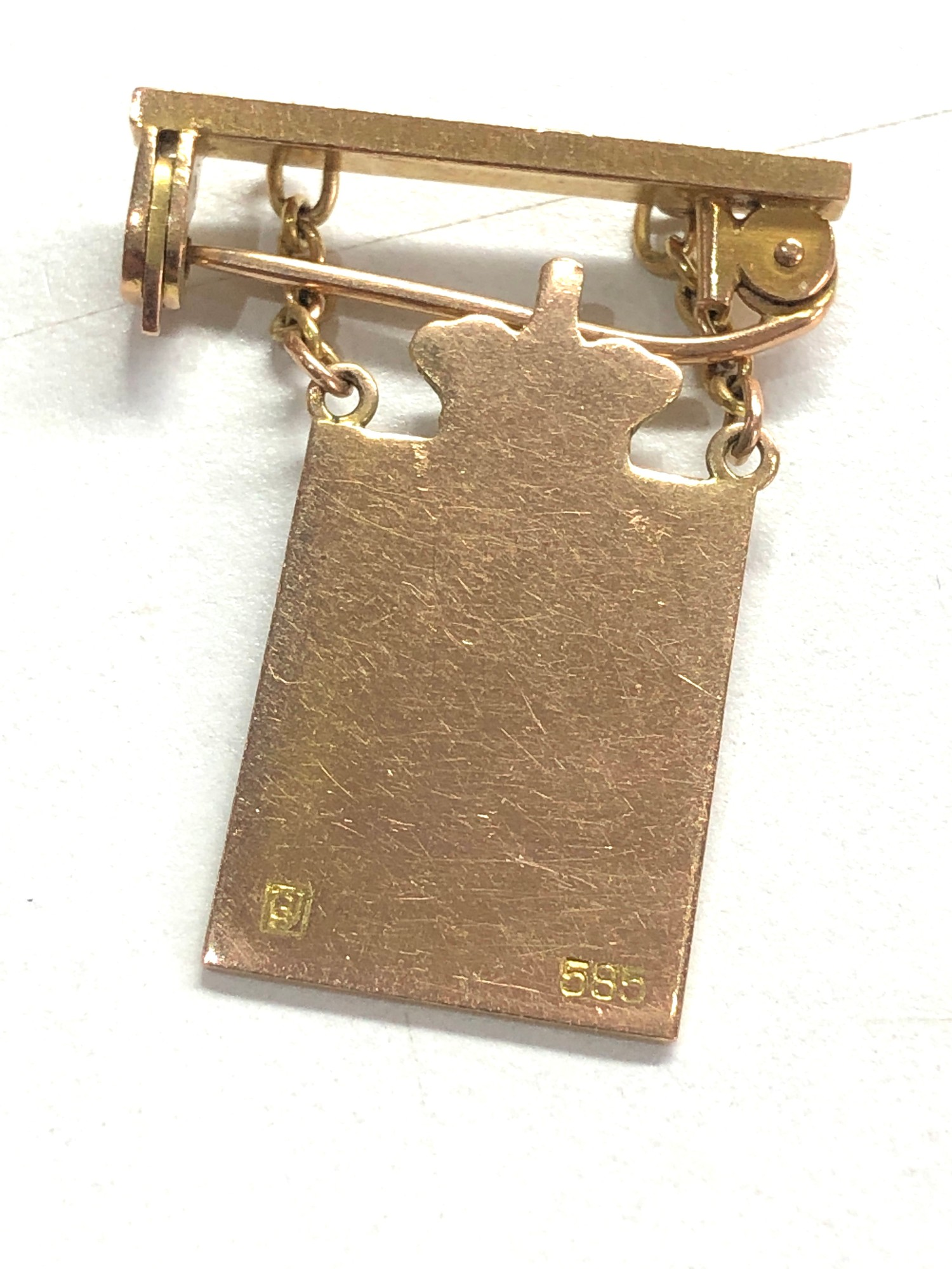 selection of misc jewellery items etc includes hat pins gold & pearl earrings and 14ct gold georg - Image 4 of 5