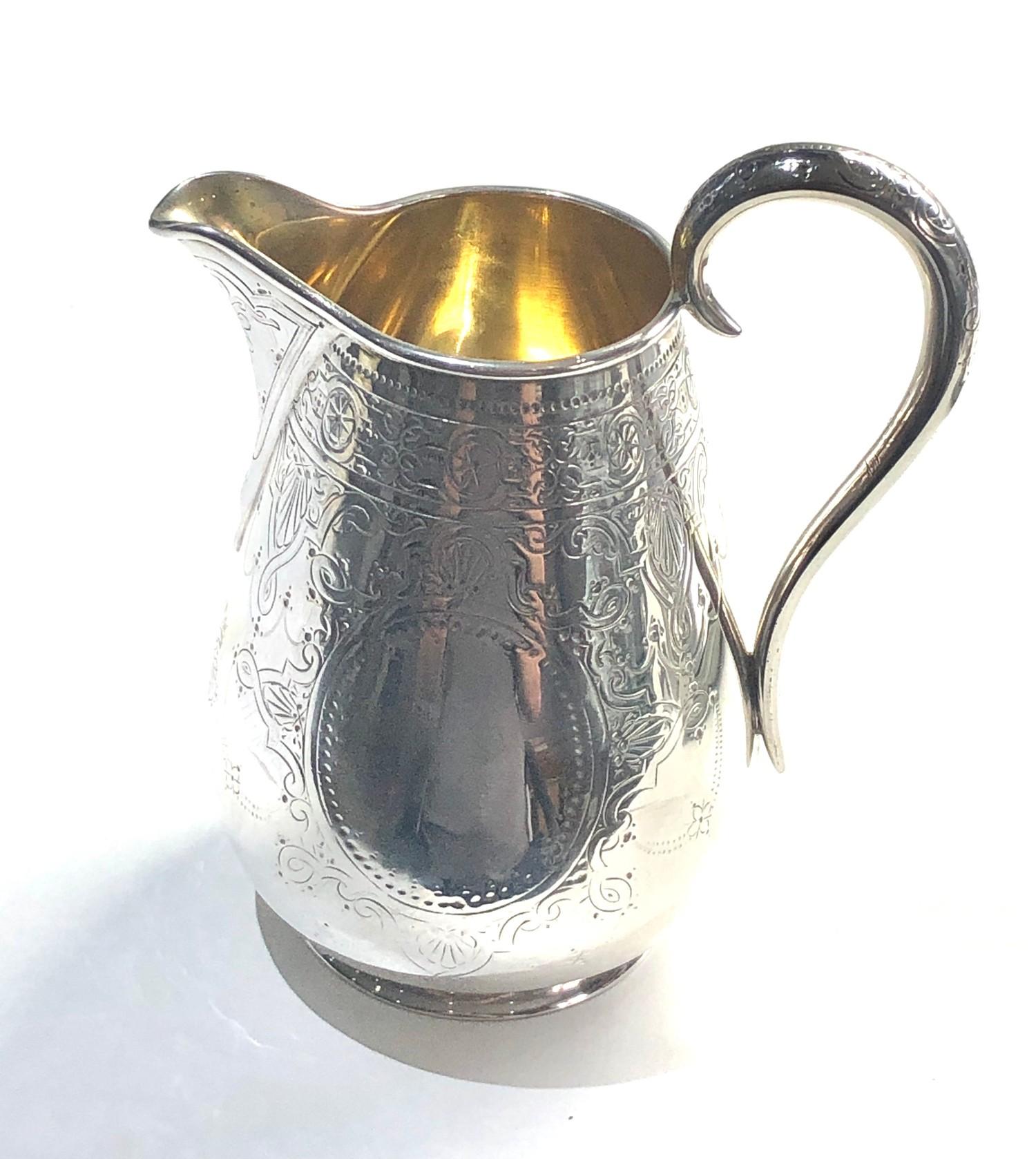 Large victorian silver milk jug London silver hallmarks weight 207g - Image 3 of 4