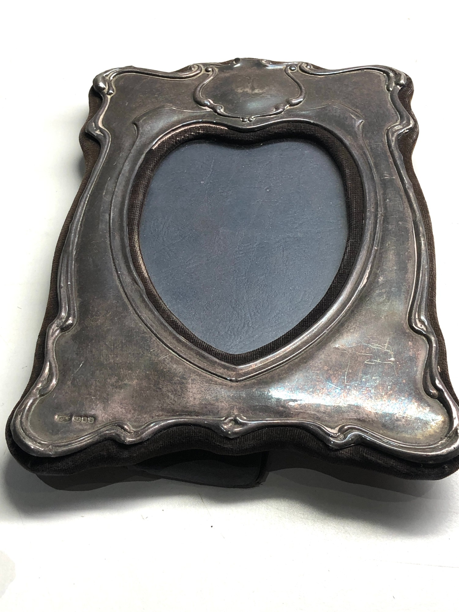 3 vintage silver picture frames largest measures approx 20cm by 14cm - Image 3 of 7