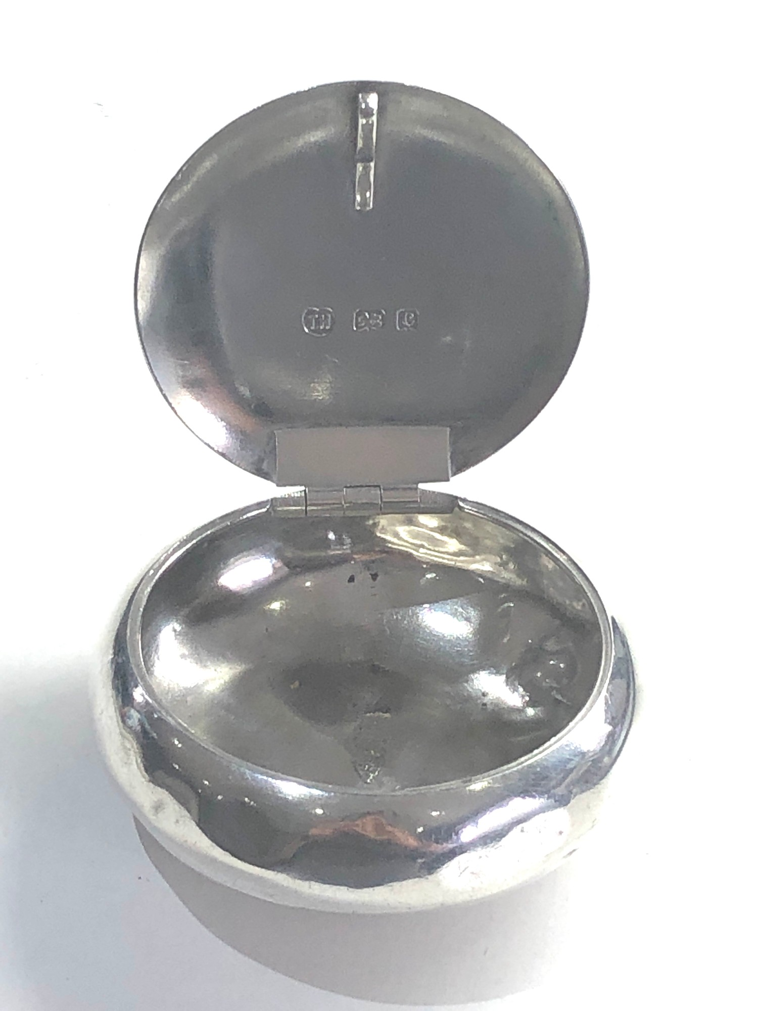 Antique silver tobacco box Birmingham silver hallmarks age related dents please see images for