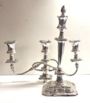 Large silver candelabra measures apprpx 53cm high 37cm wide sheffield silver hallmarks filled damage