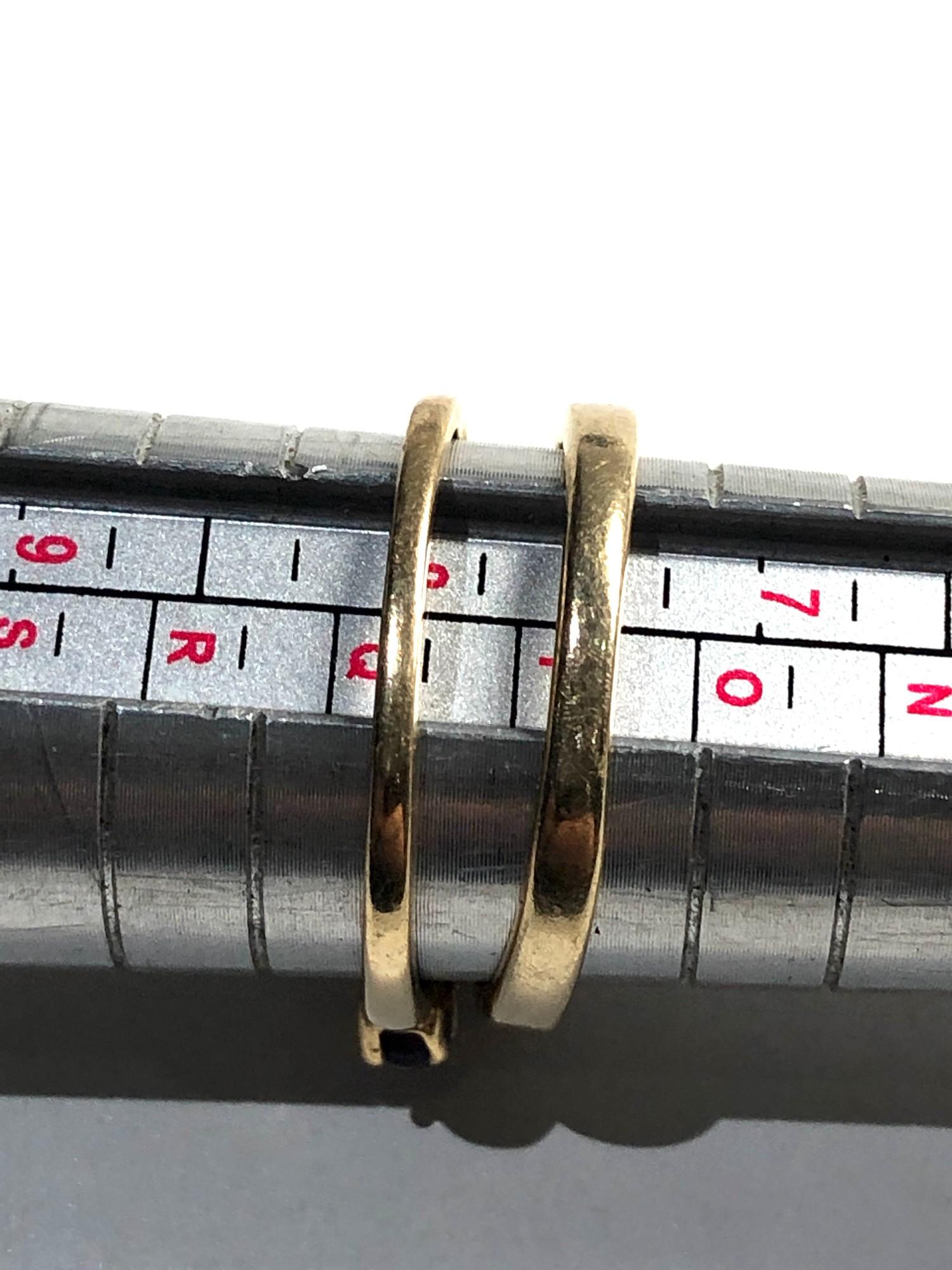 2 x 9ct Gold seven stone rings inc. ruby, amethyst, diamond 3.2g - Image 3 of 3