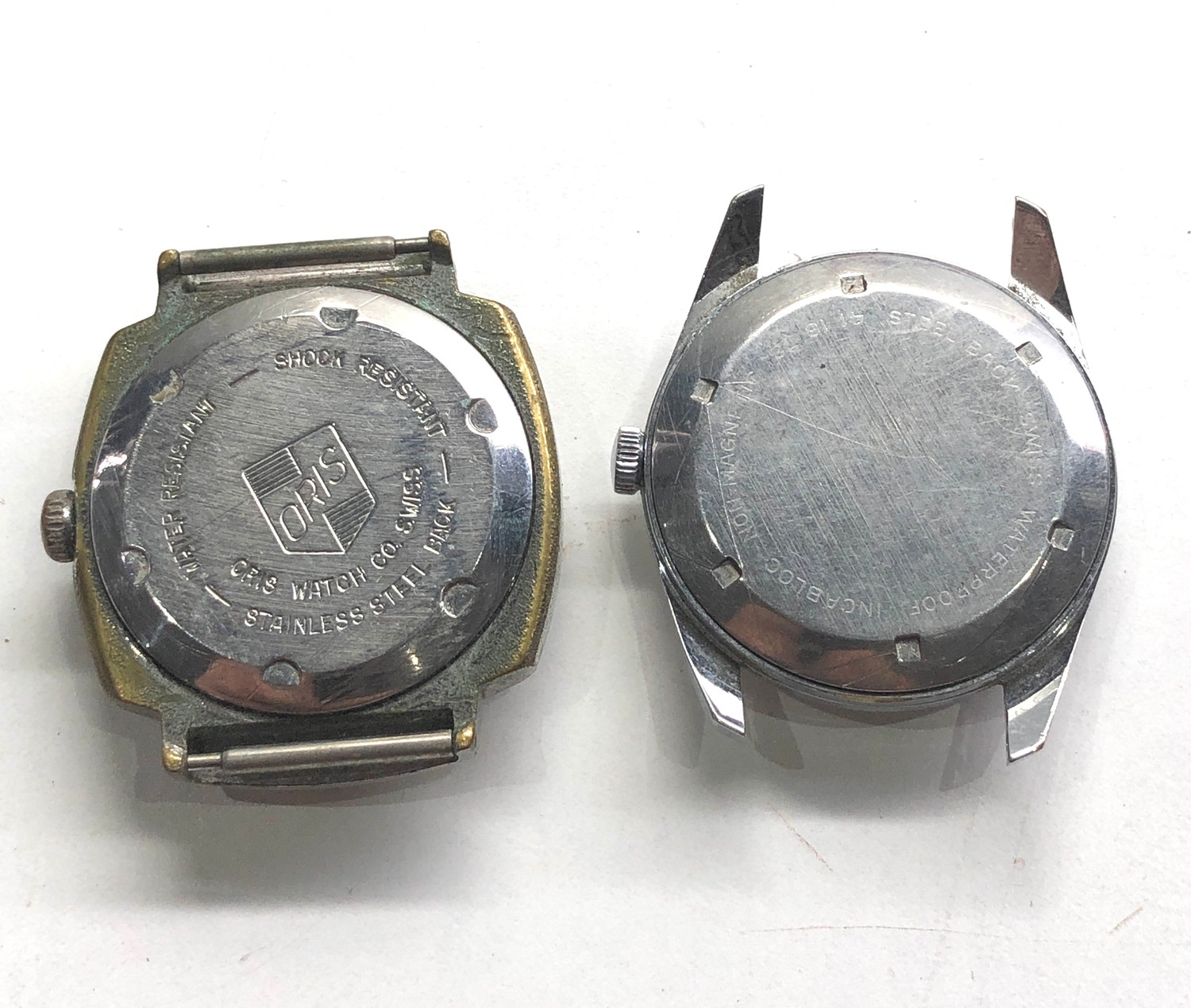 Selection of 4 vintage gents wristwatches includes rotary oris services and randal untested spares - Image 5 of 5