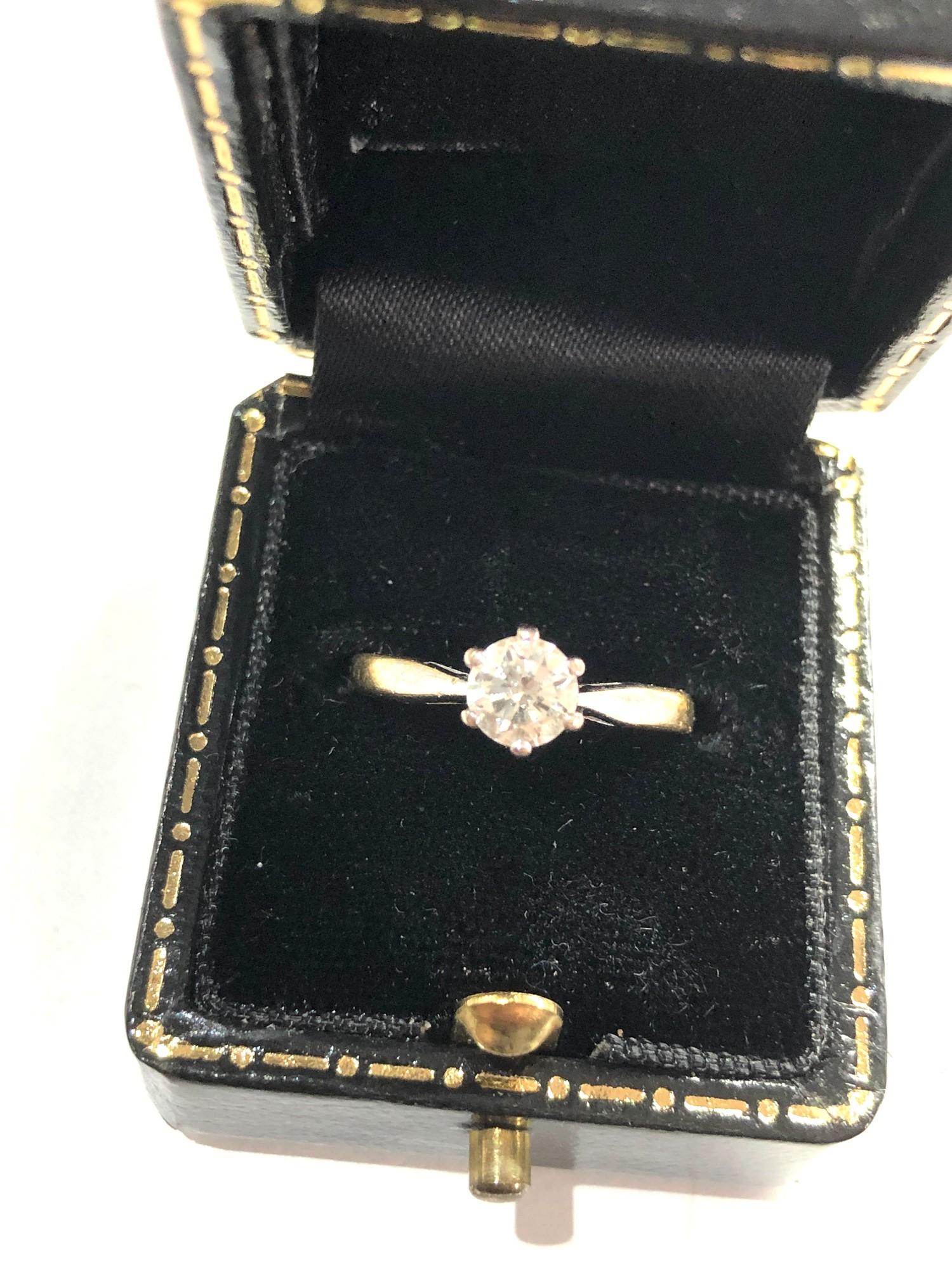 Fine 18ct gold diamond ring 0.50ct - Image 2 of 6