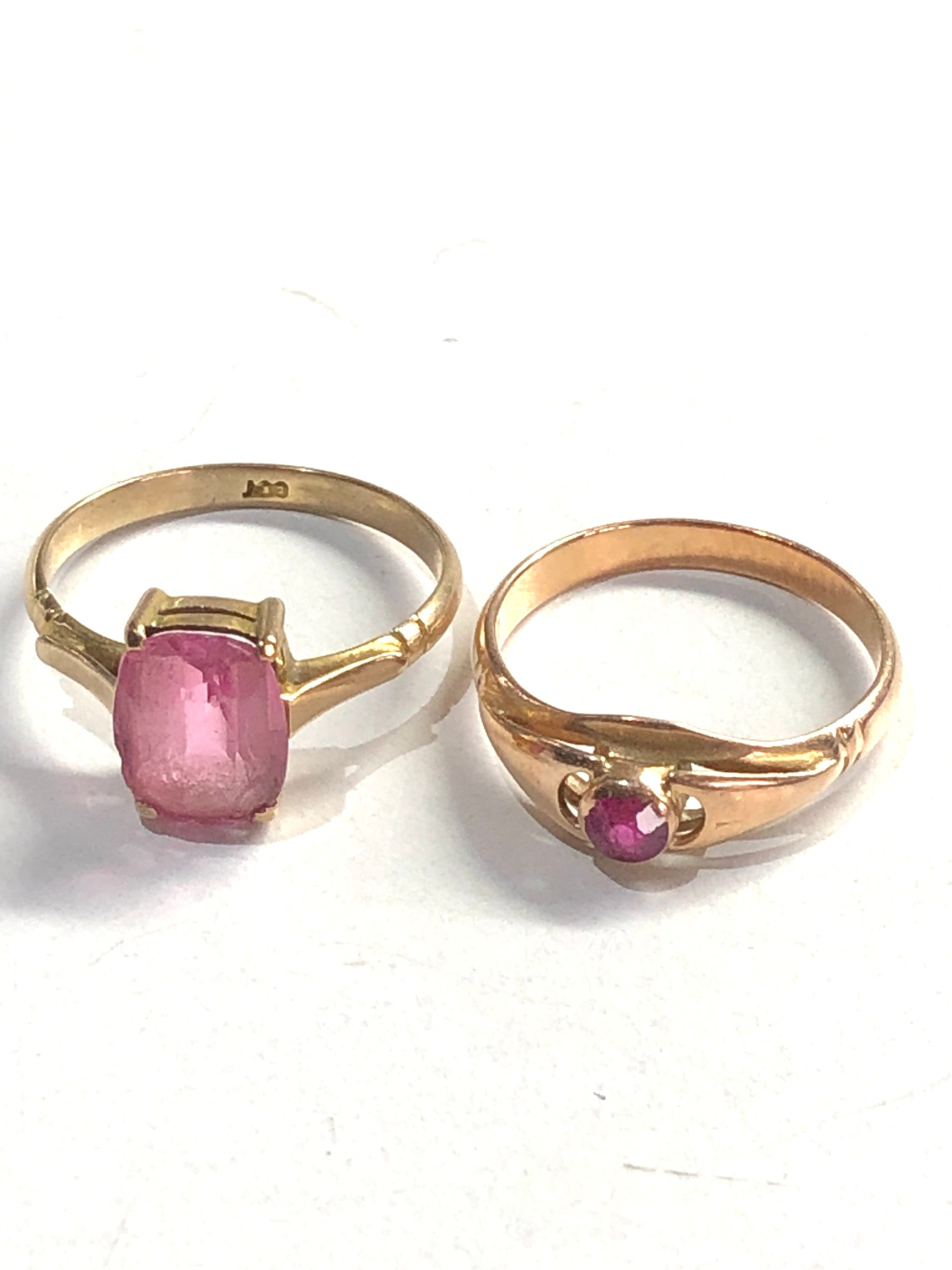 2 x 9ct Gold dress rings 4.2g - Image 2 of 3