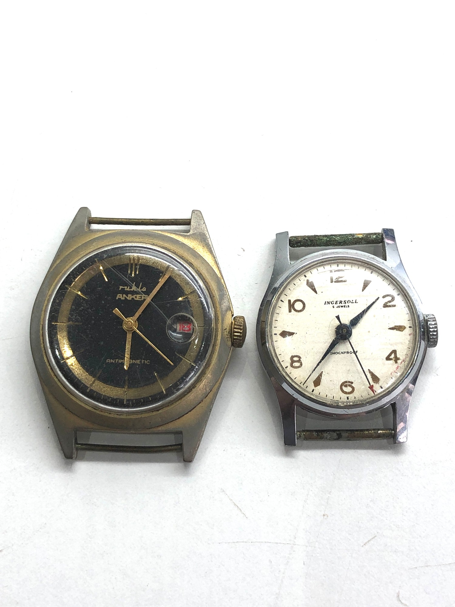 Selection of 4 vintage gents wristwatches includes ingersoll timex ruhla and michael roberts - Image 4 of 5