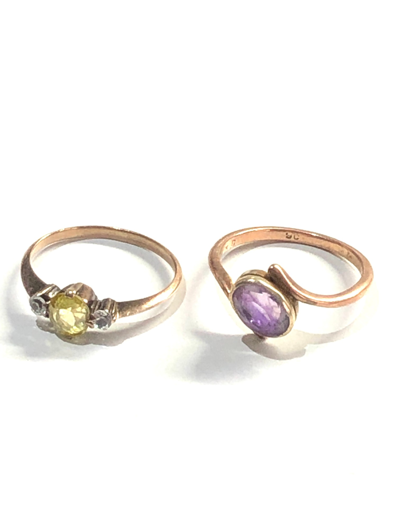 2 x 9ct Gold dress rings 3.7g - Image 3 of 4