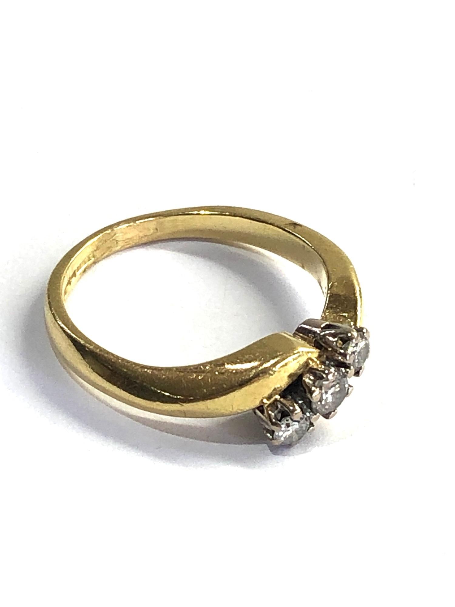 18ct gold diamond ring 0.25ct diamonds weight 4.3g - Image 3 of 4