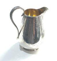 Large victorian silver milk jug London silver hallmarks weight 207g