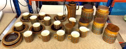 Vintage 1970?s Hornsea Bronte part coffee service, all in good overall condition