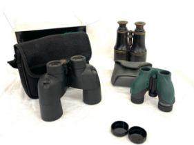Selection of binoculars to include: Opticron, Nikon etc