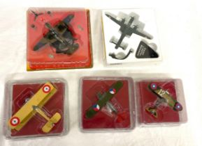 Selection vintage Diecast Sealed models, to include Bi planes, Alcione