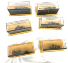 Selection of 6 new sealed combat tanks to include Cruiser Mk VIA Crusader II, 1st Armoured