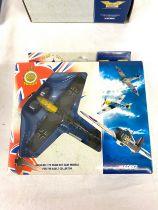 Selection of 4 Corgi boxed Aircraft models includes, 49101 hawker hurricane, 49201 Messerschmitt