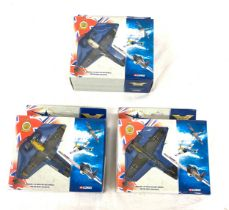 Selection of 3 Corgi boxed Aircraft models 49021 messerschmitt 109e,