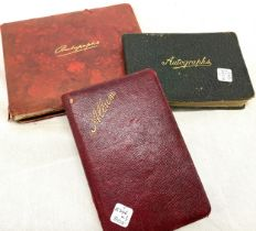 2, 1917 Autograph book with pictures and autographs, 1937 autographs and pictures