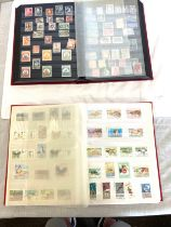 Large selection of stamps in 2 albums