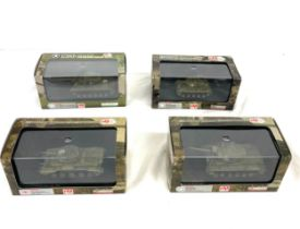 Selection of 4 Hobbymaster boxed tanks includes, m26 Pershing tank HG3202, M46 Patton 1st marine div