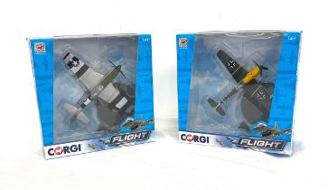 2 Boxed Complete Corgi Flight models, CC99304 Mustang P51, CC99303 Messerschmitt 109