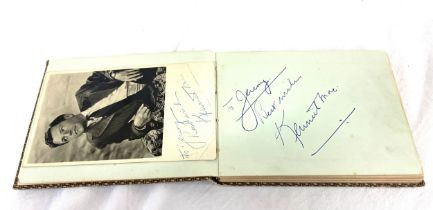 Autograph album containing original autographies of just some of the names such as: Peter Sellers,