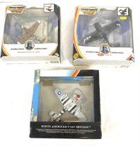 Selection of 3 Matchbox aircraft models includes, Messerschmitt BF 109g, North American P-51d