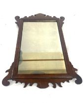 Georgian wall mirror, approximate measurements: Length 22 inches, Width 14.5 inches
