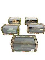 Selection of 5 Hobbymaster boxed tanks includes, Three Russias KV Heavy Tank HG3006 , M26 Pershing