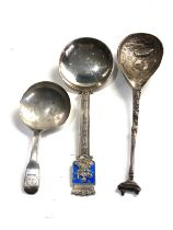 3 silver spoons includes tea caddy spoon & norway silver spoon weight 54g