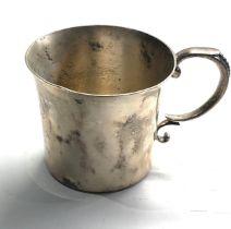 Sterling silver mug weight 112g