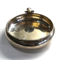 Continental 900 silver oyster bowl measures approx 14cm diam weight 154g