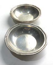 Pair of sterling silver bowls each measure approx 14cm dia total weight 323g